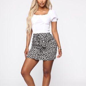 Leapord print tie skirt